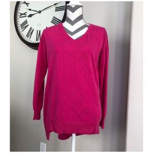 Vince Camuto Pink Long Sleeve Sweater Small